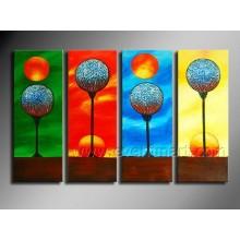 Pintura a óleo abstrata moderna pintada mão 100%