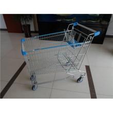 Asiatischer Art-Stahl-Supermarkt-Einkaufswagen
