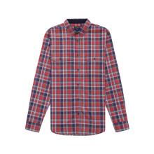 Men's Red Check Long Sleeve Shirt