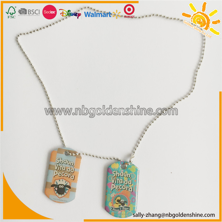 Promotion Cadeau Metal Tags Collier