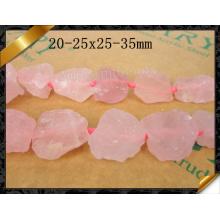 Natural Rose Quartz Jewelry Stone in Nugget Shape (GB0112)