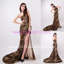 Astergarden Real photo LEOPARD Printed Satin Evening Gown AS149