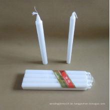 Unscented weiße Hochzeits-Kerzen des Hauptgebrauchs