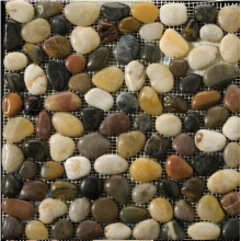 Polished Natural Meshwork Stone pebble tile