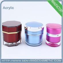 2015 новых упаковочных банок оптовой косметической упаковки акриловой кремовой банки