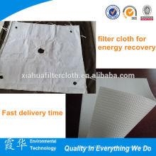 Paño de filtro de prensa de aceite de poliéster recubierto de alta calidad