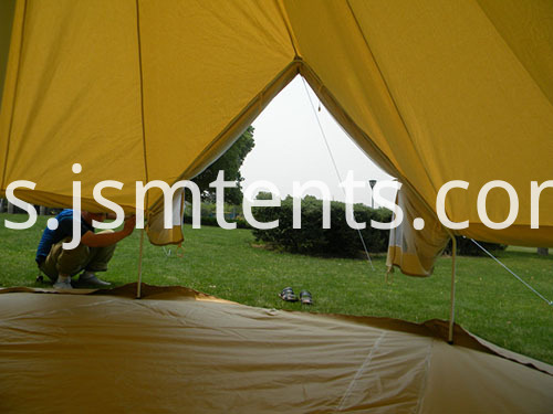 Canvas Cotton Bell Tent with furniture