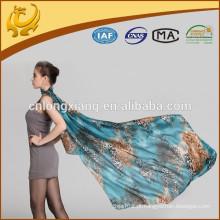Muçulmano Sexo quente Mulheres De alta qualidade Lenço de seda Fábrica Espessura Chiffon Padrão Hijab cachecol