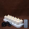 set of 12 Moving Flame Luminara Rechargeable Tea Lights