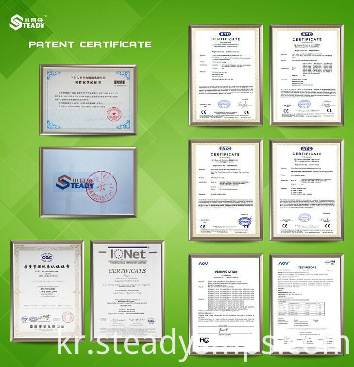 Certification of steady