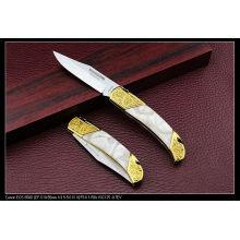 Cuchillos de acrílico de oro del arte de la manija (SE-131)