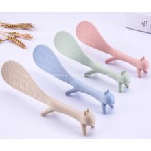 Colher de pé Antiaderente Colher de arroz de plástico