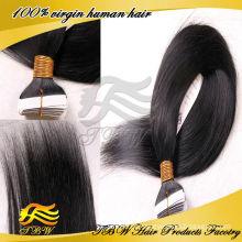 2014 venda quente !! fita adesiva não processada da extensão do cabelo