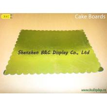 China atacado placas de bolo de cor dourada para padaria loja com SGS (B & C-K073)