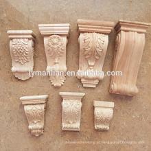 Mísulas de escultura em madeira decorativas
