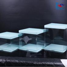 Модные подгонянная коробка бумаги искусства буле логотип торта с окном PVC