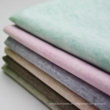 30s tecido de linho de rayon, liso rayon tecido de dois tons de linho