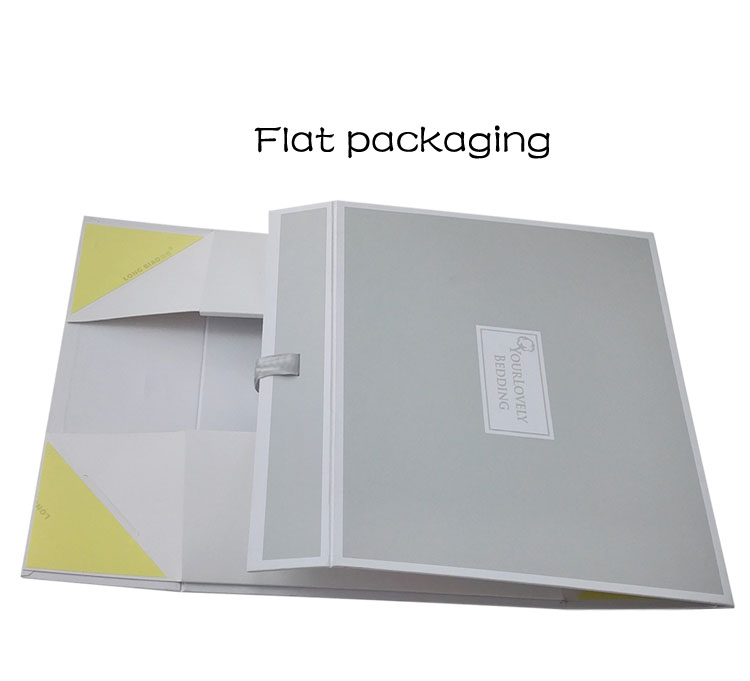 Ribbon Closure Customized Gift Card Box Clothing Box