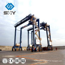 Port Application Rubber Tyre Container Crane , RTG CraneWith CE ISO, BV Certificates