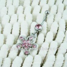 Moda cereja corpo piercing jóias barriga umbigo anel