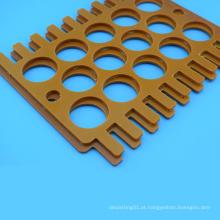 Folha feita sob encomenda feita à máquina da baquelite do processamento do CNC