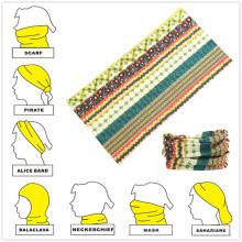 Faixa de cabeça bandana multifuncional de microfibra personalizada