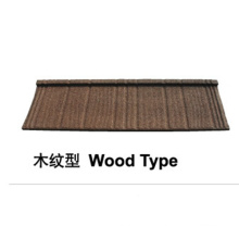 Stone Coated Metal Roof Tile (Wood Type)