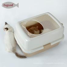 Boîte de litière de chat écologique mignon en gros, fashional facile à nettoyer boîte de toilette chat