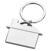 Regalo de metal personalizados logotipo de impresión simple casa forma llavero (f1325)
