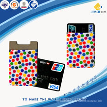 Hot sales business gift cute silicone mobile phone card holder