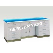(C-60) Table de travail avec base en acier inoxydable