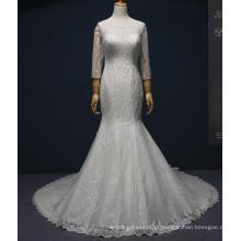 Long Sleeve Beading Sereia Vestidos De Noiva Nupcial