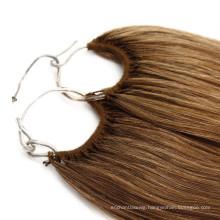 Wholesale Price Korea/Japan Cotton Knotted Thread No Tip Hair Extension Human Hair Virgin Hair Remy Hair