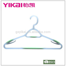 New plastic hanger with a tie rack in small display carton set of 3