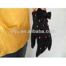 Moda Senhoras Hands Warmers Mãos Protector Handmade Luvas de camurça