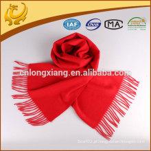 Cachecol de lã de tecido sólido de alta qualidade Classic 2015