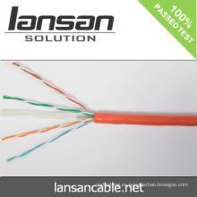 Lansan 4pair cable cat6 utp cable de red 305m 23awg BC pasar prueba de solapa buena calidad y precio de fábrica