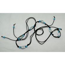 Леди одежды моды Ручной работы вощеный шнур плетеные ремни-KL0048