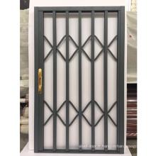 Porte moustiquaire rétractable en aluminium