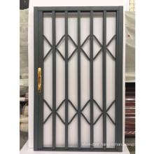 Aluminum retractable screen door
