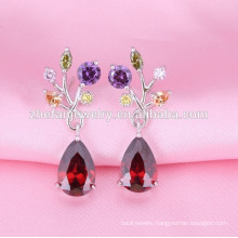 wholesalewomen fashion earring designs vintage ruby teardrop earring