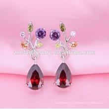 wholesalewomen серьги модный дизайн старинные рубиновые капли серьги