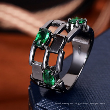 Мода подарок для девочек зеленый камень кольцо ювелирные изделия для лета 2018 года