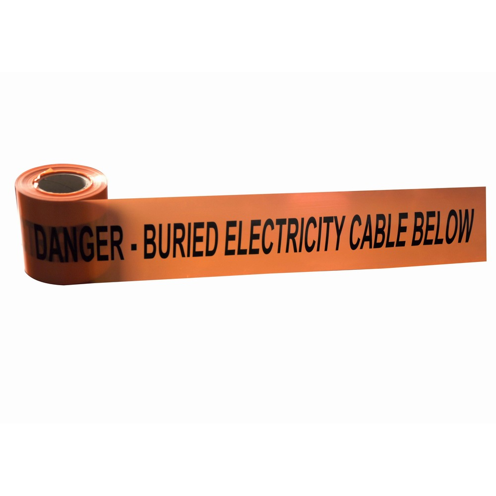 Buried underground detectable Aluminum foil warning tape