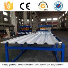 Máquina de perfilagem de chapa metálica para fabricação de painéis de telhado