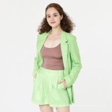 Shorts de terno feminino de linho