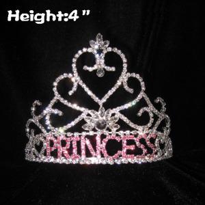 Diamantes de imitación coronas de concurso con la letra princesa