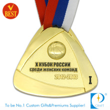 China Wholesale High Quality Metal Gold Plating 3D Basketball Medal with Baking Varnish