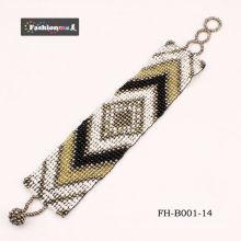 grânulo material popular braceletes para menina da moda