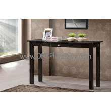 Mesa de console de madeira, mesa de gaveta de madeira